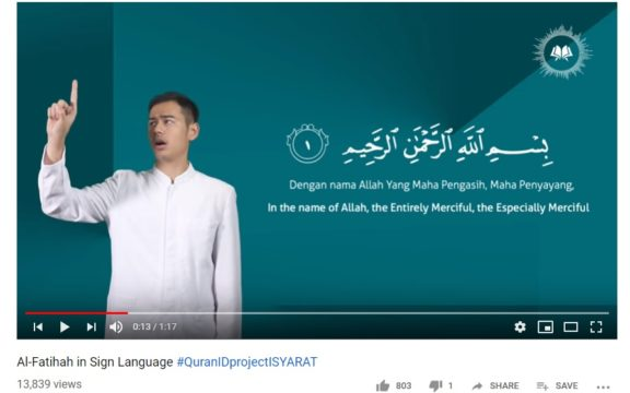 Learning the Quran for Deaf Muslims